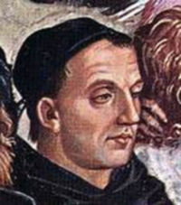 Posthumous portrait of Fra Angelico  by Lucca Signorelli (1395)