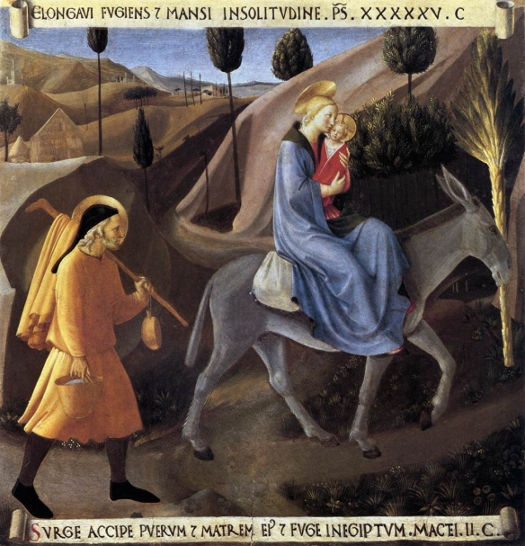 Flight into Egypt by Fra Angelico