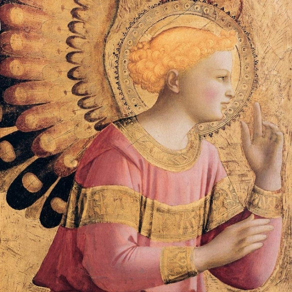 The Annunciation - partial -St Gabrial (1431 -1433)  by Fra Angelico